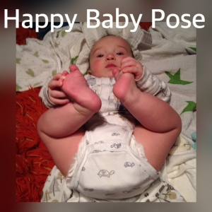 happy baby pose